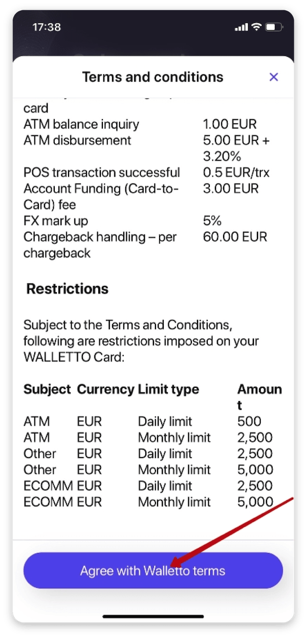 How to order a prepaid card with OWNR Wallet