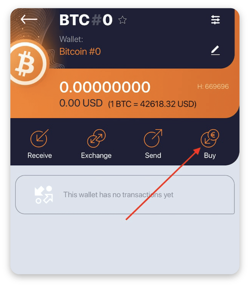 Buying crypto with OWNR Wallet: illustrated guide